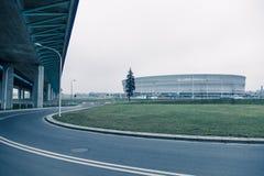 体育场,现代建筑学在弗罗茨瓦夫波兰 免版税库存图片