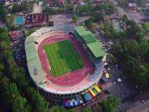 体育场Beaeutiful鸟瞰图在亚罗士打在Masjid查希尔附近的吉打马来西亚从顶视图 影视素材