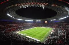 体育场Donbass竞技场的晚上视图 免版税库存照片