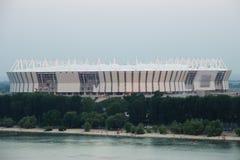 体育场mundial 2018年建筑 Postov在唐, 2017年2月7日 顿河的左岸 库存照片