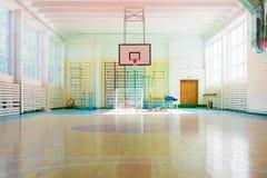 体育复合体在俄国学校 免版税库存照片