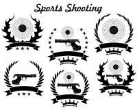 体育射击 库存图片