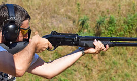 体育射击 免版税库存照片