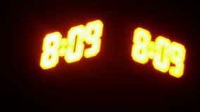 体育投篮秒表读秒 发光的LED屏幕 数字在焦点得到 影视素材