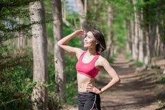 体育某处妇女神色 免版税库存图片