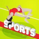 体育概念的跳高运动员 图库摄影