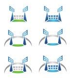 体育比赛场所或体育场徽标 免版税库存图片
