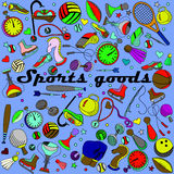 体育物品线艺术设计传染媒介例证 图库摄影