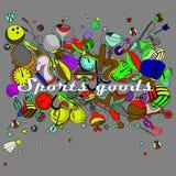 体育物品线艺术设计传染媒介例证 免版税库存图片