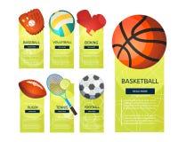 体育球和赌博辅助部件设备象  免版税库存图片