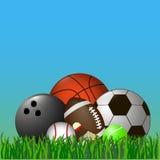 体育球和shuttlecock 图库摄影