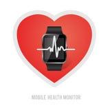 体育生活方式卫生监测 向量例证