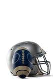 体育盔甲和橄榄球特写镜头  库存图片