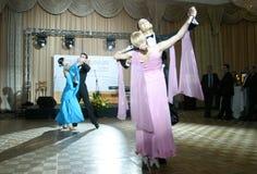 体育舞蹈竞争 免版税库存图片