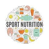 体育营养 库存例证