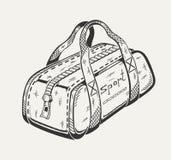 体育袋子的单色例证 免版税图库摄影