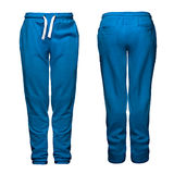 体育裤子,蓝色 库存照片