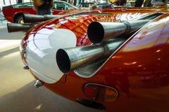 体育赛车Maserati Tipo 63 Birdcage的排气管, 1959年 库存照片