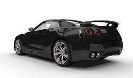 黑体育车的背面图 免版税库存照片