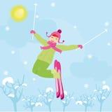 体育运动冬天 向量例证