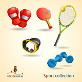 体育运动图标。 向量集 免版税图库摄影
