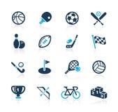 体育运动图标//天蓝色系列 库存照片