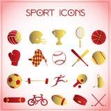 体育运动图标 皇族释放例证