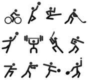 体育运动图标 库存例证