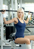 体育运动女孩 免版税库存照片