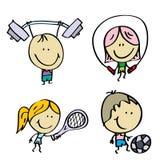 体育运动孩子 图库摄影