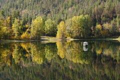 体育运动渔夫, Allison湖, BC 免版税库存图片