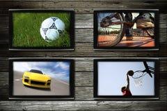 体育运动电视 库存图片