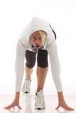 体育运动穿衣的妇女 免版税库存图片