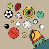体育运动袋子 库存照片