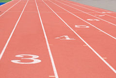 体育运动跟踪 免版税库存图片