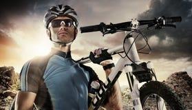 体育运动 骑自行车者 库存图片