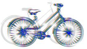 体育颜色自行车 免版税库存照片