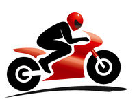 体育马达自行车车手 免版税库存照片
