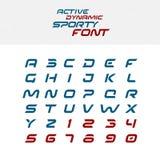 体育techno字体字母表信件 向量例证