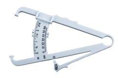 体脂肪测量的轮尺。 库存照片