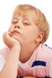 体贴男孩的学龄前儿童 图库摄影