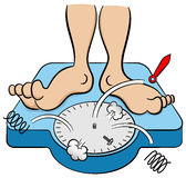 体重计崩溃在重量下 免版税库存照片
