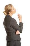 体贴的女实业家 免版税库存图片