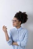 体贴的女实业家 免版税图库摄影