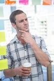 体贴的行家人用咖啡 库存照片