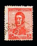 何塞弗朗西斯科de圣马丁省(1778-1850), serie,大约1917年 免版税库存照片