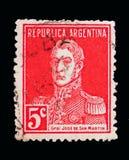 何塞弗朗西斯科de圣马丁省(1778-1850), serie,大约1917年 库存图片
