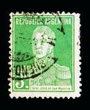 何塞弗朗西斯科de圣马丁省(1778-1850), serie,大约1923年 库存图片