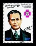 何塞拉乌尔角Capablanca 1888-1942,古巴,棋拥护serie,大约1996年 库存照片