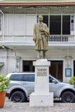 何塞桑托斯雕象  图库摄影
